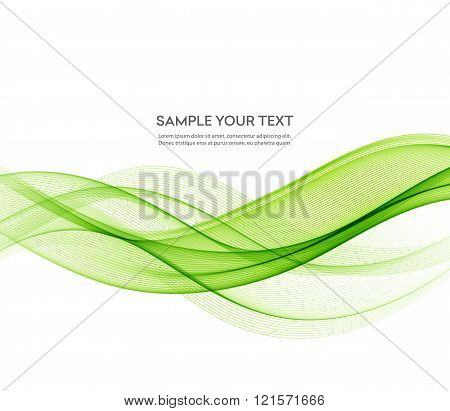 poster of Abstract vector background, futuristic wavy