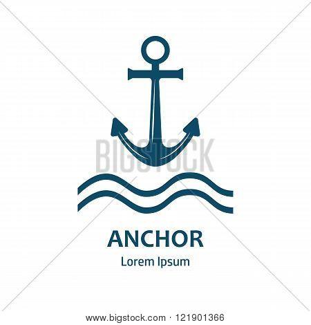 Anchor vector logo icon