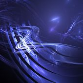 abstract twisting road fractal background