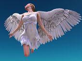 flying white angel