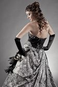 Beautiful woman wearing evening gown