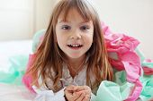Portrait of cute happy playful child