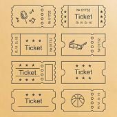 Постер, плакат: Ticket set icon