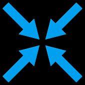 Center Arrows Flat Vector Symbol poster