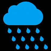Постер, плакат: Rain Cloud Flat Vector Symbol