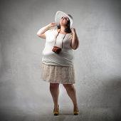 Elegant fat woman