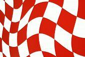 Bright Orange Checkered Flag Background