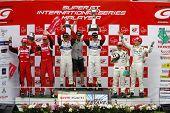 Japão - junho: Pódio de Super GT 2008 Round 4 no Japão, Malásia