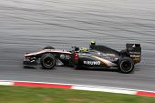 KUALA LUMPUR - APRIL 2: Hispanic Racing Team's Brunno Senna takes to the tracks on practice day at t