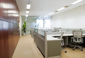 stock photo of interior  - Modern office interior - JPG
