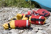 detailed view of river rescue throw lines