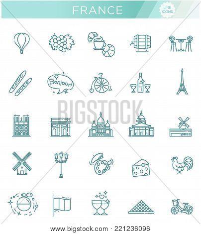 France Icons SetFrance