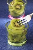 Fresh Kiwi Fruit Closeup