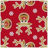 Reindeer xmas seamless patterns