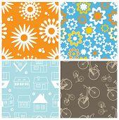 Set of lovelyfresh  seamless pattern
