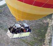 Basket Of People Hot Air Balloon From Overhead