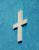 Cross Sign On The Church Wall