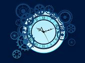 Old Clock With Gears Background poster