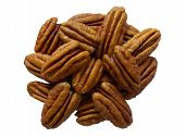 image of pecan nut  - This is a detailed macro shot of fresh pecans which I have cut - JPG