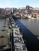 Charles Bridge From Old Town Bridge Tower Prague poster