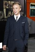LOS ANGELES, CA - JUL 28: Tom Felton at the Premiere of 'Rise of the Planet of the Apes' at Grauman'