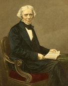 Michael Faraday (1791-1867). Engraved by D.J.Pound and published in The Drawing-Room Portrait Galler