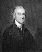Joseph Priestley (1733-1804). Engraved by W.Holl and published in The Gallery Of Portraits With Memo