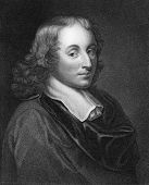 Blaise Pascal (1623-1662). Engraved by H.Meyer and published in The Gallery Of Portraits With Memoir