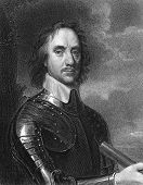 Oliver Cromwell (1599-1658). Engraved by E.Scriven and published in The Gallery Of Portraits With Me