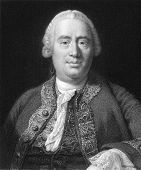 David Hume (1711-1776). Engraved by W.Holl and published in The Gallery Of Portraits With Memoirs encyclopedia, United Kingdom, 1833.