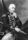 Vizeadmiral Cuthbert Collingwood (1748-1810). Radierung von W.Finden und The National Portr veröffentlicht