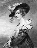 Georgiana Dowager, Lady Dover. Engraved by H.Robinson and published in National Portrait Gallery Of