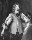 Prince Rupert of the Rhine (1619-1682). Engraved by J.Cochran and published in Portraits And Memoirs Of The Most Illustrious Personages encyclopedia, United Kingdom, 1836.