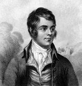 Robert Burns (1759-1796). Engraved by W.Clerk and published in A Biographical Dictionary of Eminent