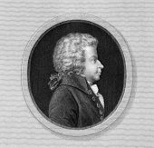 Wolfgang Amadeus Mozart (1756-1791. Engraved by J.Thomson and published in The Gallery Of Portraits