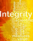 Background concept wordcloud illustration of integrity international