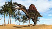 spinosaurs in desert