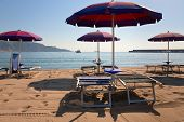 Sand Beach In Giardini Naxos, Sicily