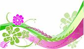 Green and Pink Flower Background