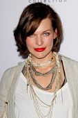 LOS ANGELES, CA - JAN 28: Milla Jovovich at Calvin Klein Collection & Los Angeles Nomadic Division 1