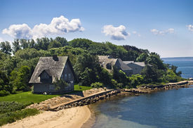 picture of cape-cod  - A view of the shoreline along Woods Hole on Cape Cod in Massachusetts - JPG