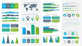 Infographics Set. Charts, Diagrams And Graphs. Flowchart, Data Bars And Timeline For Report Presenta poster