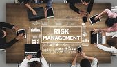 Risk Management And Assessment For Business Investment Concept. Modern Graphic Interface Showing Sym poster