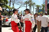 LOS ANGELES, CA - APR 16: William Fitchner, Kim Coates at the Toyota Grand Prix Pro Celeb Race at To