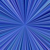 Blue Psychedelic Abstract Star Burst Background - Vector Illustration From Striped Rays poster