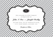 Vector Crosshatch Pattern and Border. Easy to edit. Perfect for invitations or announcements.