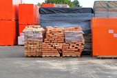 Construction Materials. Building Materials For Construction In The Construction Market. Pile Of Bric poster