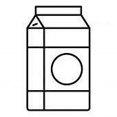 Milk Tetra Pack Icon. Outline Milk Tetra Pack Vector Icon For Web Design Isolated On White Backgroun poster