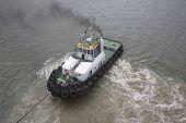 Tugboat At Work