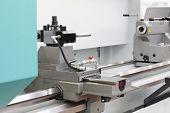 Metal Processing Machine. Cnc Metalworking Milling Machine. poster